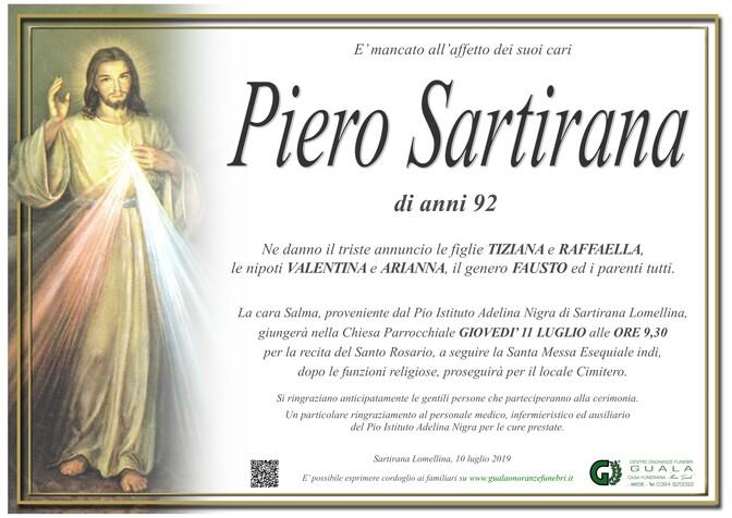 Necrologio di Piero Sartirana