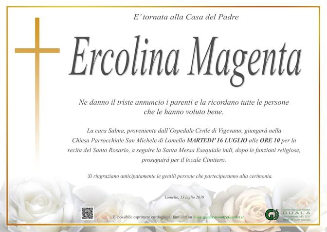 Necrologio di Ercolina Magenta