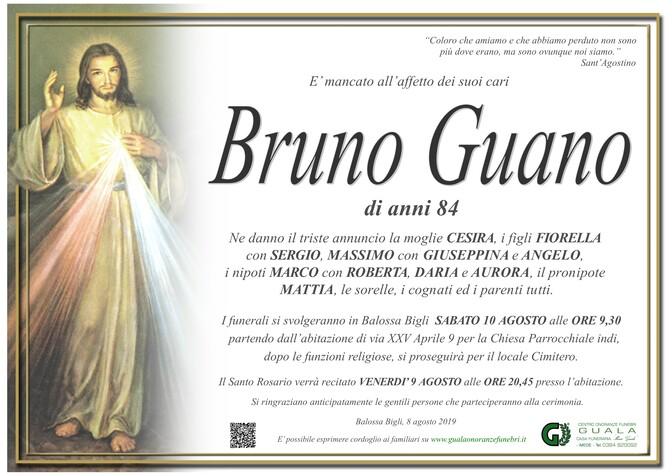 Necrologio di Bruno Guano