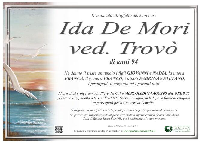 Necrologio di Ida De Mori ved. Trovò