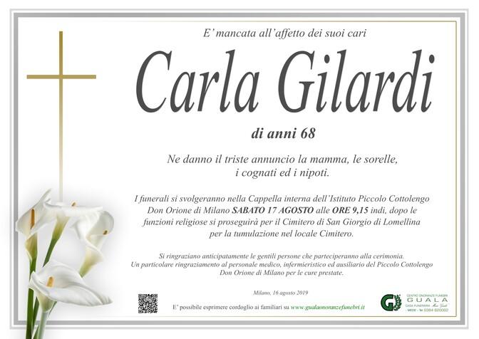 Necrologio di Carla Gilardi