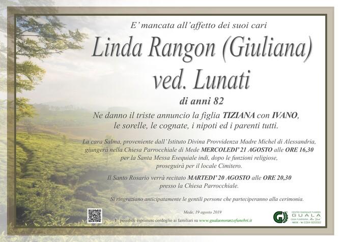 Necrologio di Linda Rangon (Giuliana) ved. Lunati