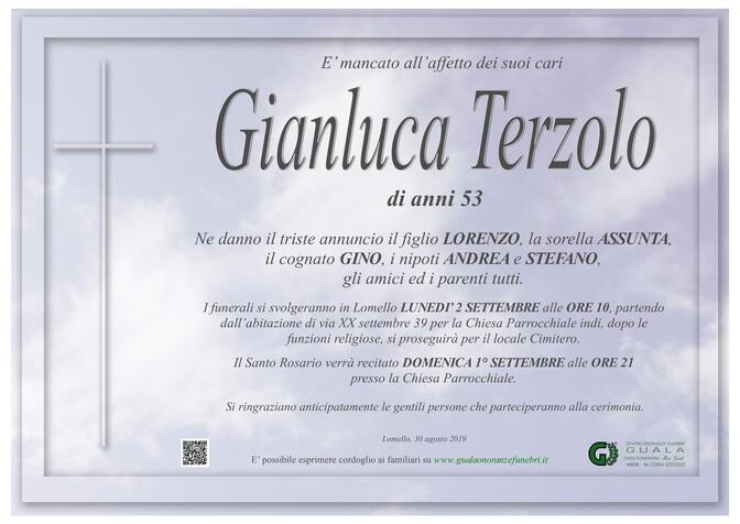 Necrologio di Gianluca Terzolo