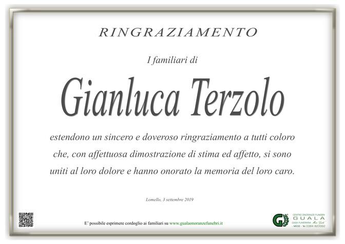 Ringraziamento per Gianluca Terzolo