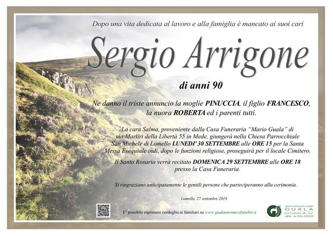 Necrologio di Sergio Arrigone