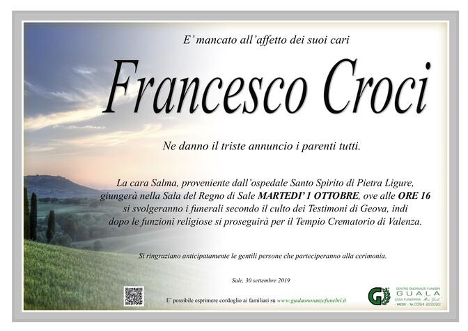 Necrologio di Francesco Croci