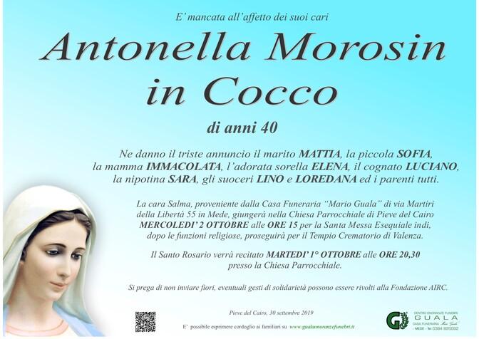 Necrologio di Antonella Morosin in Cocco