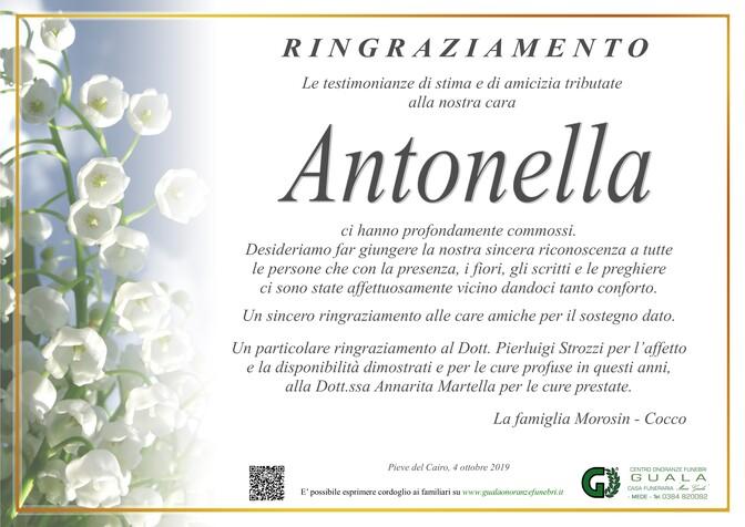 Ringraziamento per Antonella Morosin in Cocco
