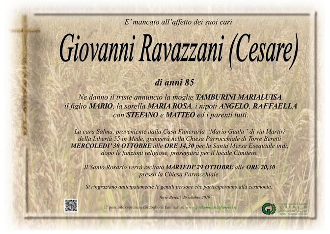 Necrologio di Giovanni Ravazzani (Cesare)
