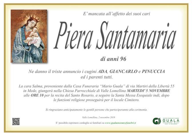 Necrologio di Pierina Santamaria