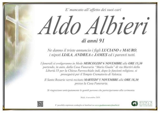 Necrologio di Aldo Albieri