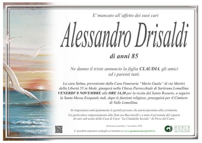 Necrologio di Alessandro Drisaldi