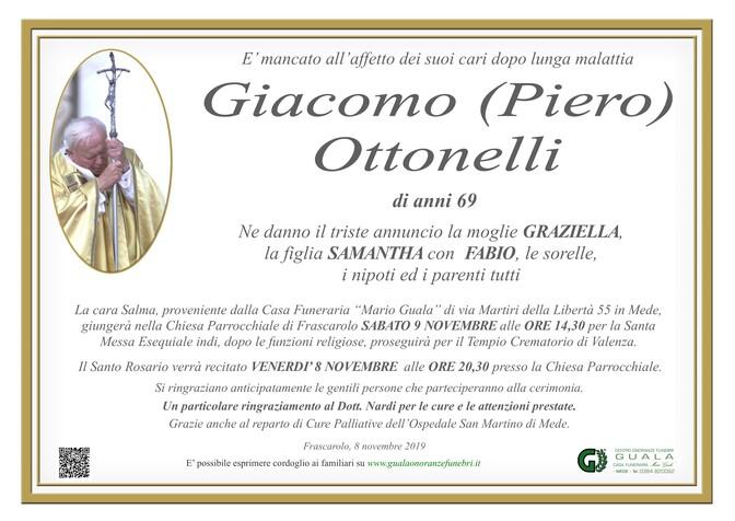 Necrologio di Giacomo (Piero)  Ottonelli