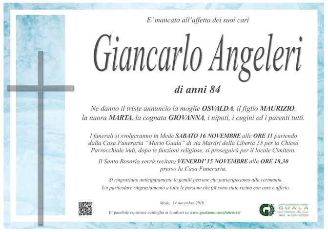 Necrologio di Giancarlo Angeleri