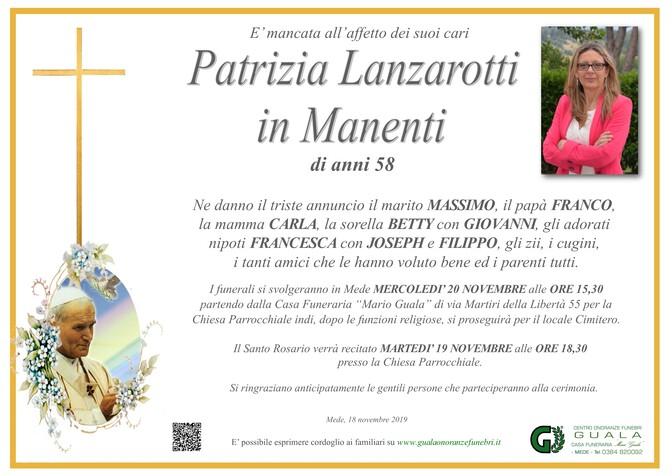 Necrologio di Patrizia Lanzarotti in Manenti