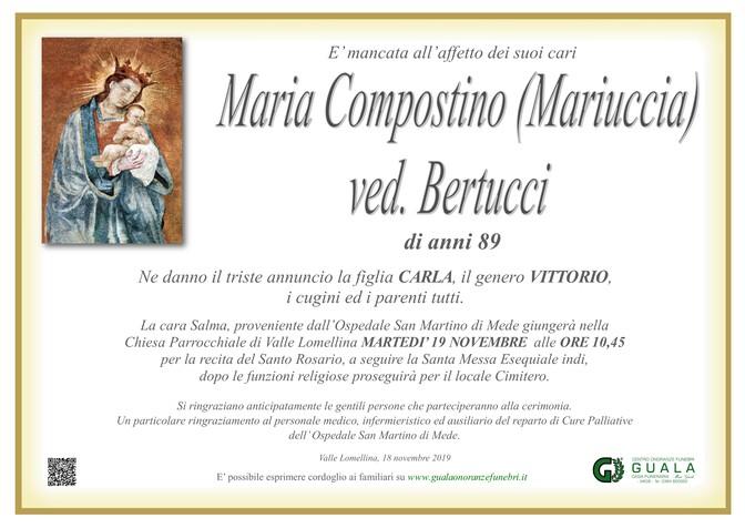 Necrologio di Maria Compostino (Mariuccia) ved. Bertucci