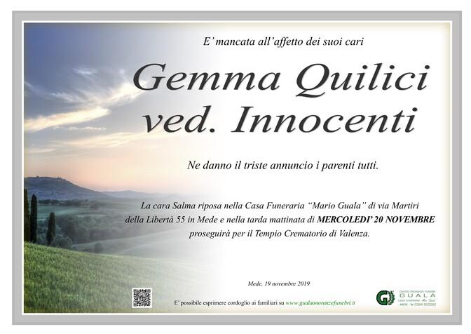 Necrologio di Gemma Quilici ved. Innocenti