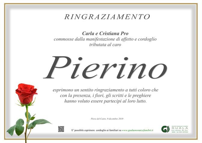 Ringraziamento per Pierino Pro