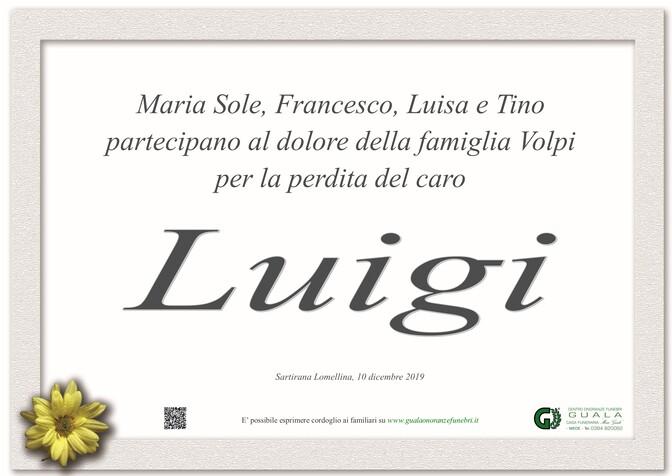 Ringraziamento per Luigi Volpi