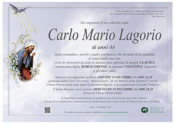 Necrologio di Carlo Mario Lagorio