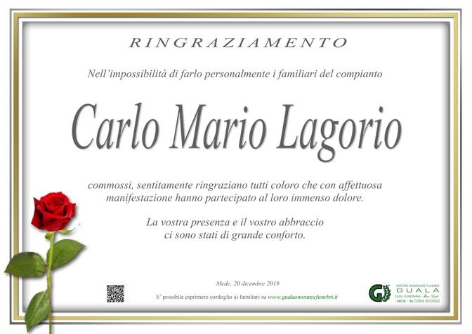 Ringraziamento per Carlo Mario Lagorio