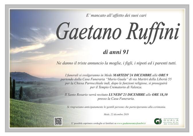 Necrologio di Gaetano Ruffini