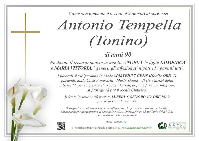 Necrologio di Antonio Tempella