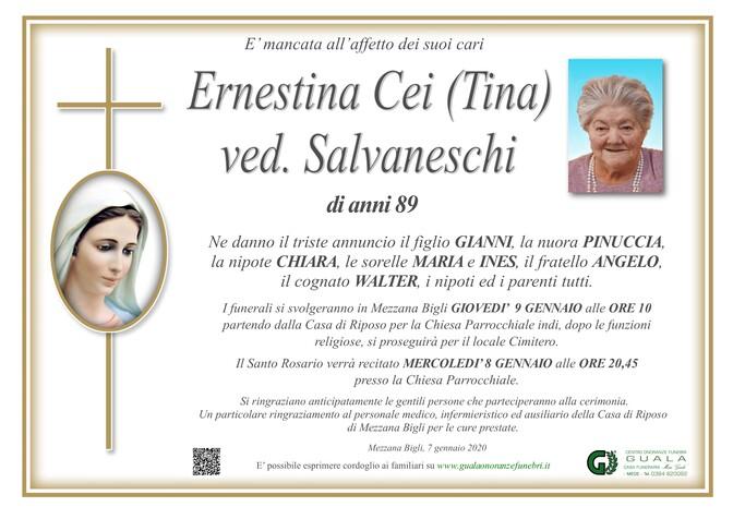 Necrologio di Ernestina Cei (Tina) ved. Salvaneschi
