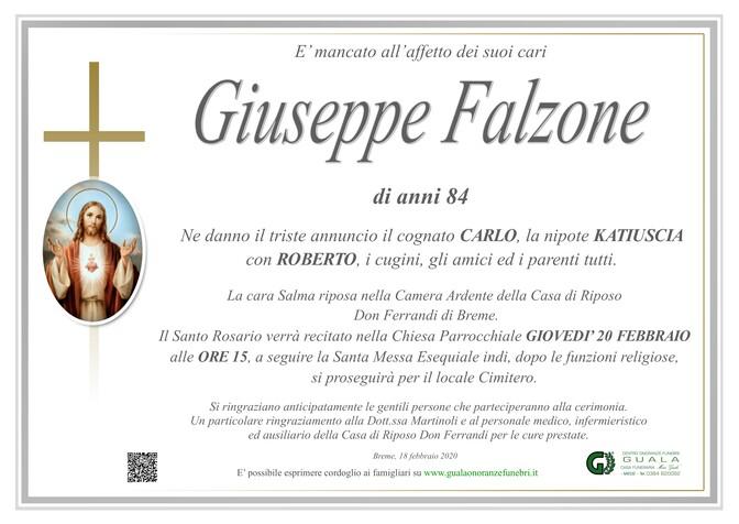 Necrologio di Giuseppe Falzone