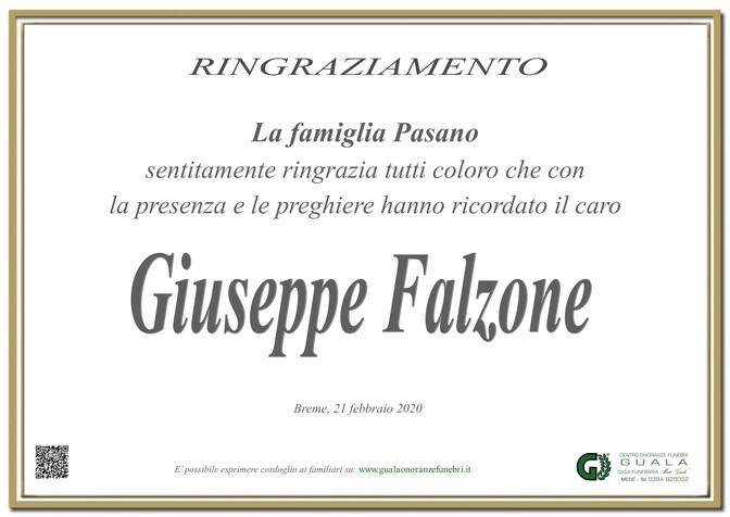 Ringraziamenti per Giuseppe Falzone