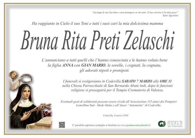 Necrologio di Bruna Rita Preti Zelaschi