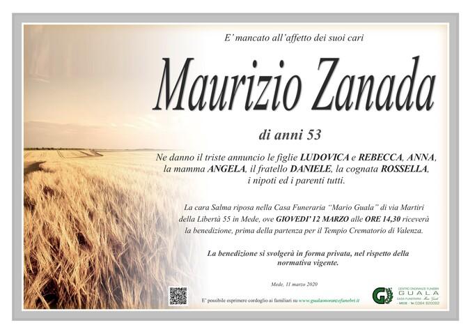 Necrologio di Maurizio Zanada