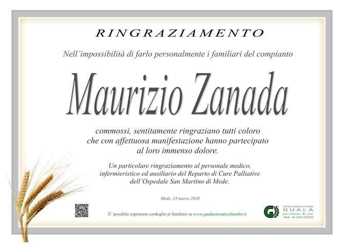Ringraziamento per Maurizio Zanada