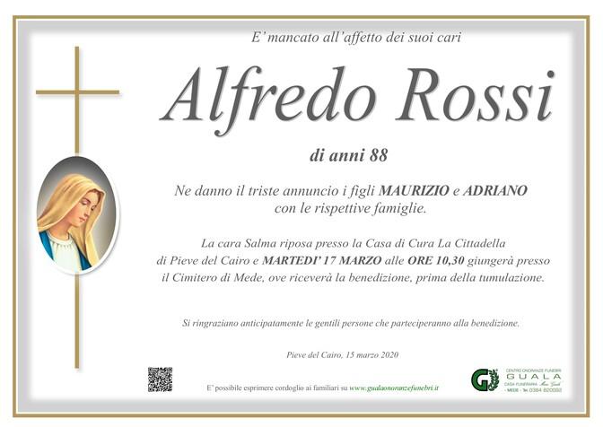 Necrologio di Alfredo Rossi