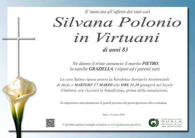 Necrologio di Silvana Polonio in Virtuani