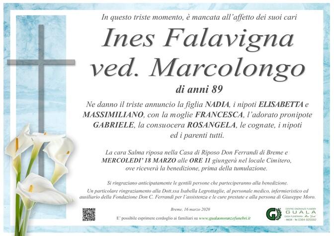 Necrologio di Ines Falavigna ved. Marcolongo