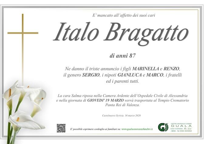Necrologio di Italo Bragatto