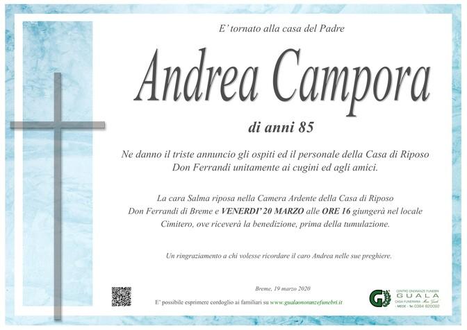 Necrologio di Andrea Campora