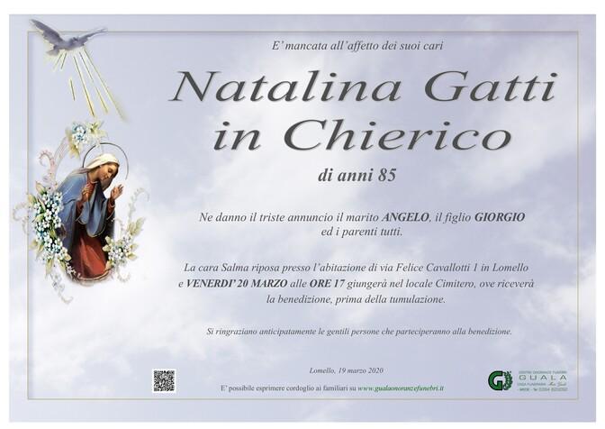 Necrologio di Natalina Gatti in Chierico