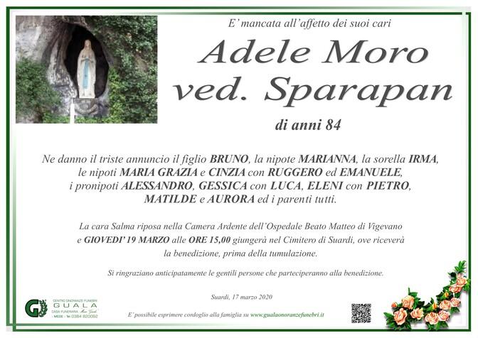 Necrologio di Adele Moro ved. Sparapan