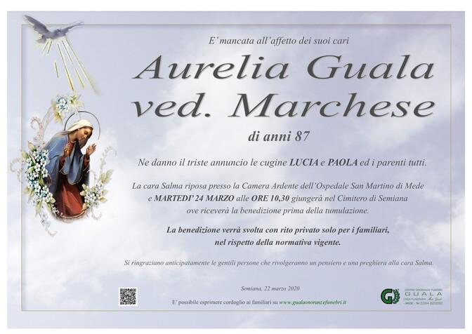 Necrologio di Aurelia Guala ved. Marchese