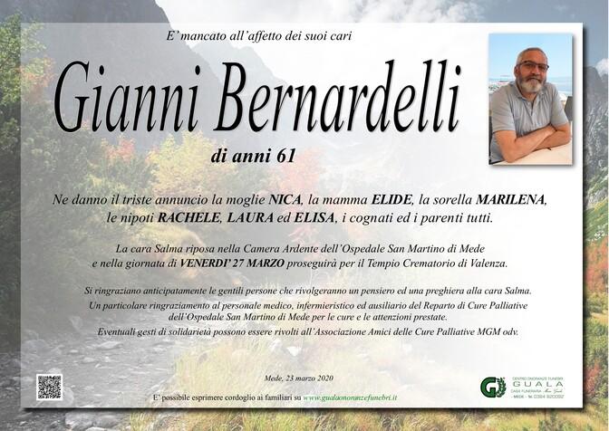 Necrologio di Gianni Bernardelli