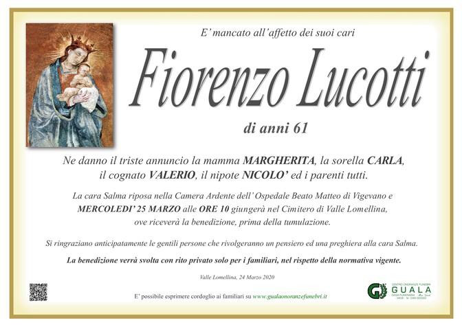 Necrologio di Fiorenzo Lucotti