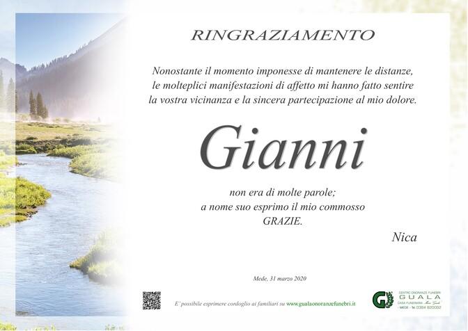 Ringraziamenti per Gianni Bernardelli