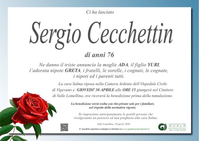 Necrologio di Sergio Cecchettin