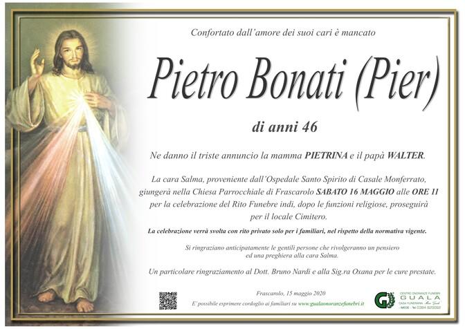 Necrologio di Pietro Bonati (Pier)