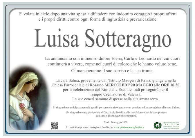 Necrologio di Luisa Sotteragno