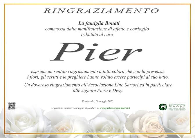 Ringraziamento per Pietro Bonati (Pier)