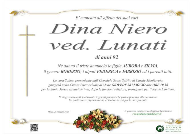 Necrologio di Dina Niero ved. Lunati