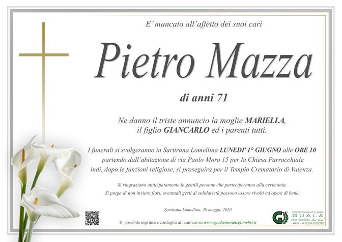 Necrologio di Pietro Mazza